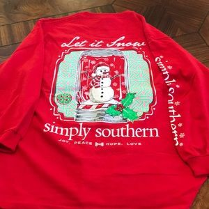 Simply Southern Christmas LS Shirt Youth NWT